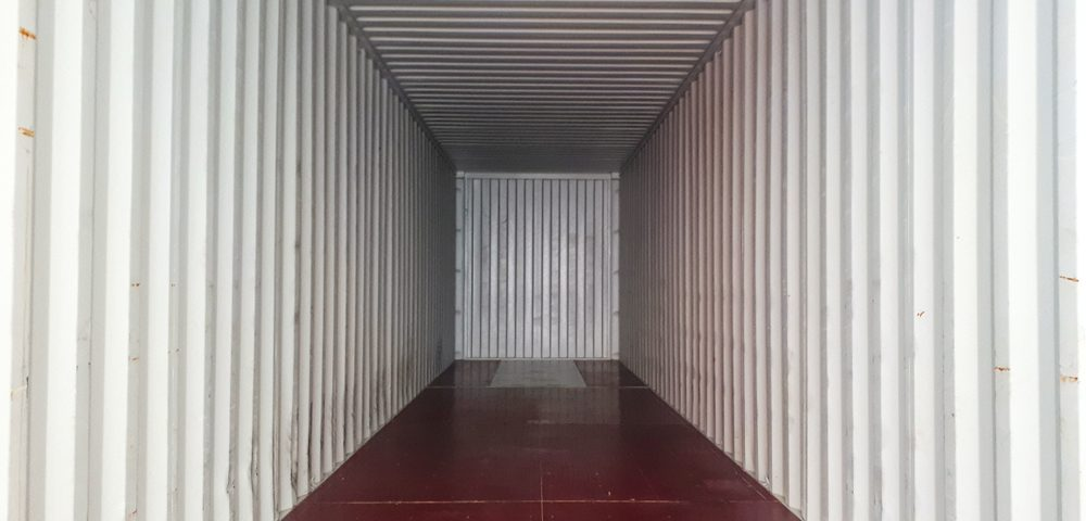 inside sea container